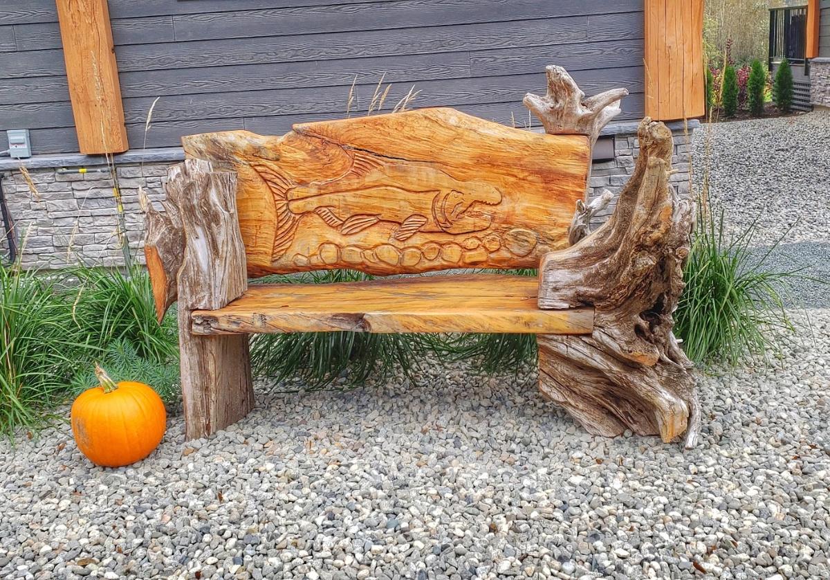 beautiful carvings at Sandpiper resort