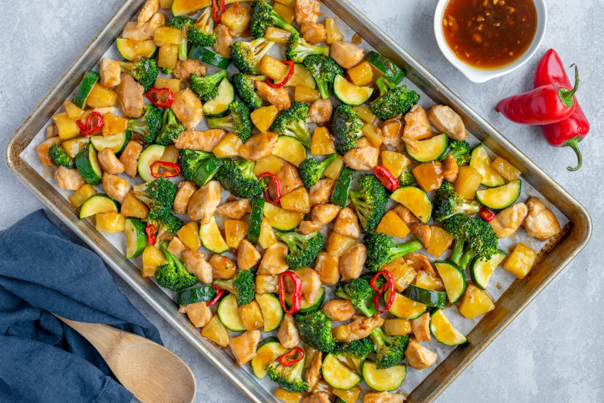 Baked Teriyaki Chicken Sheet Pan Chicken Dinner