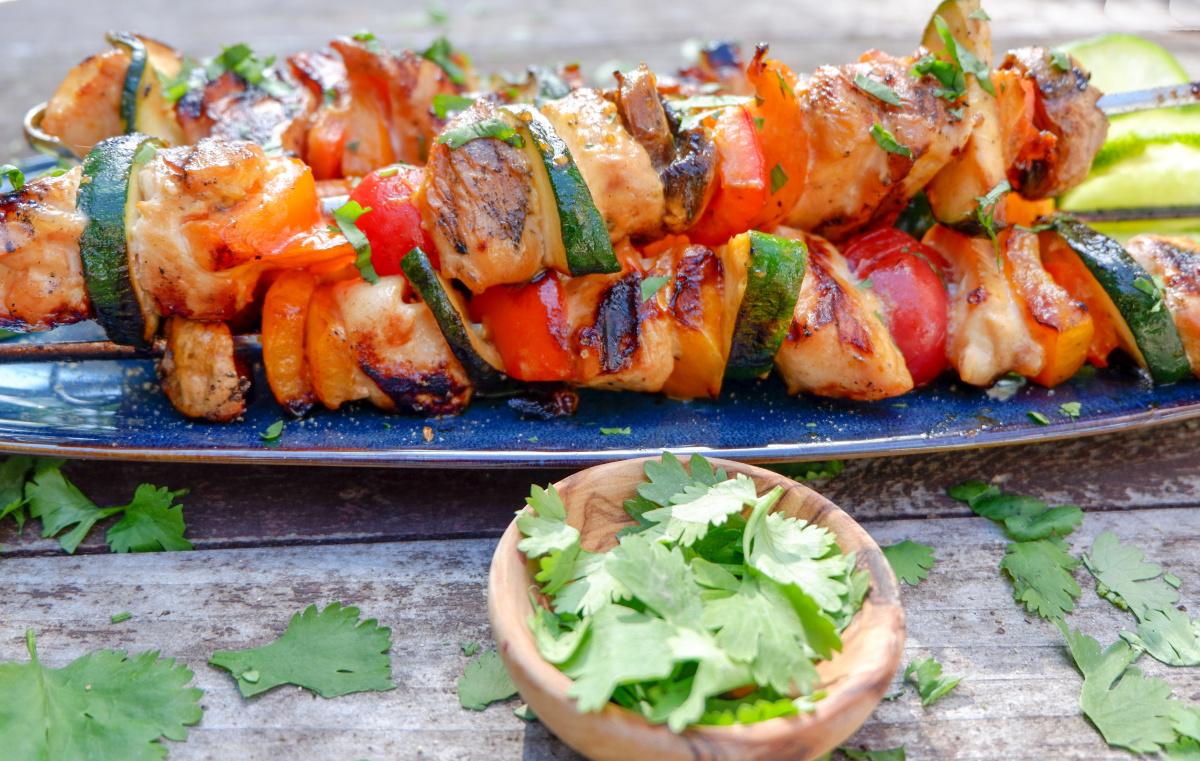 lime honey sriracha chicken kebabs