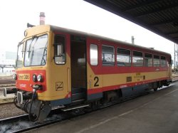 The 1 car train from Hungary into Romania