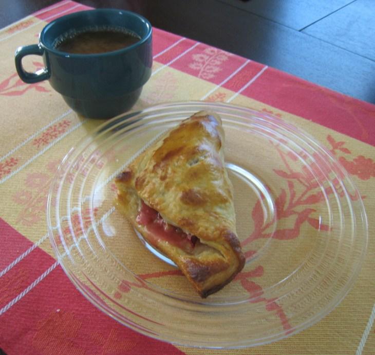 Rhubarb Turnover & Coffee
