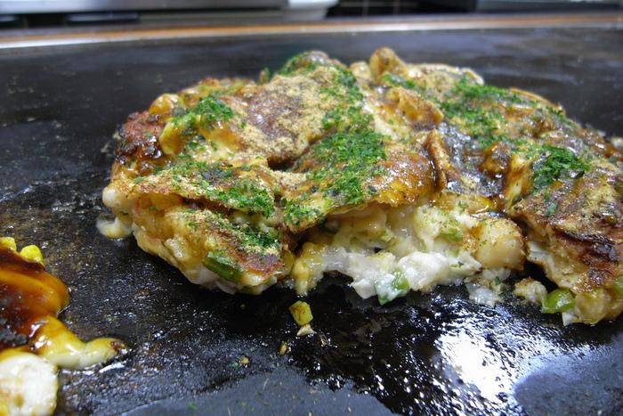 Okonomiyaki Osaka-style at Japanese department store Honolulu
