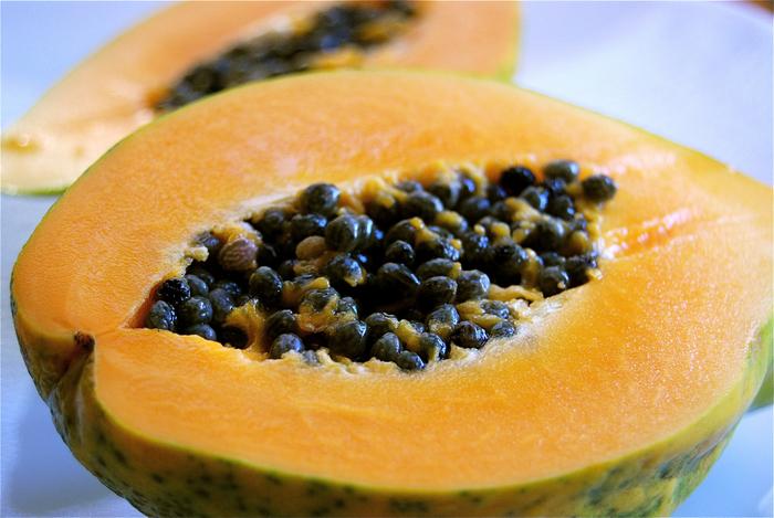 fresh papaya in Hawaii