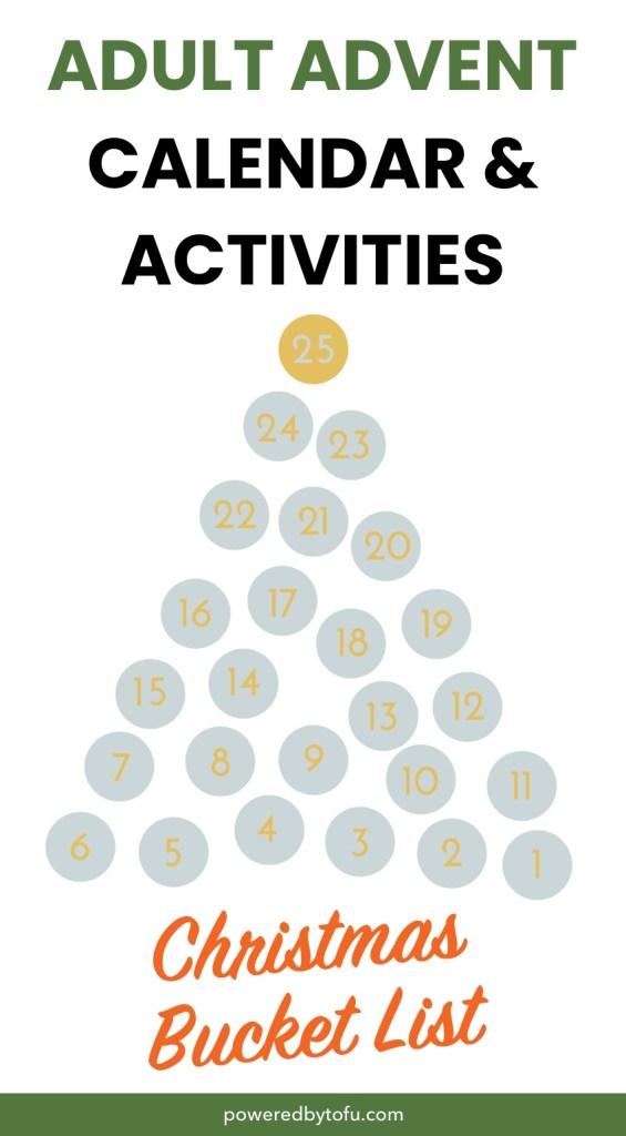 Adult Advent Calendar Christmas bucket list