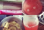 Rhubarb simple syrup and sauce