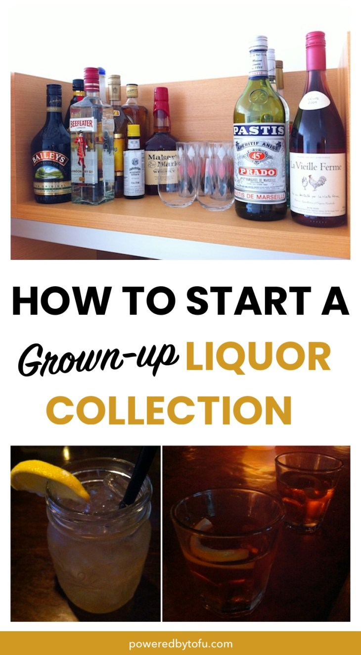 How to start a grown up liquor collection - alcohol needed, home bar