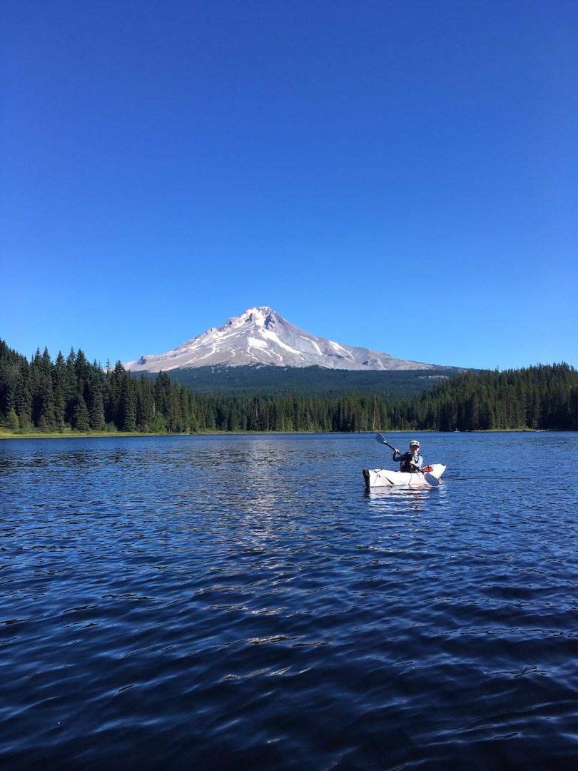 Trillium Lake kayaking