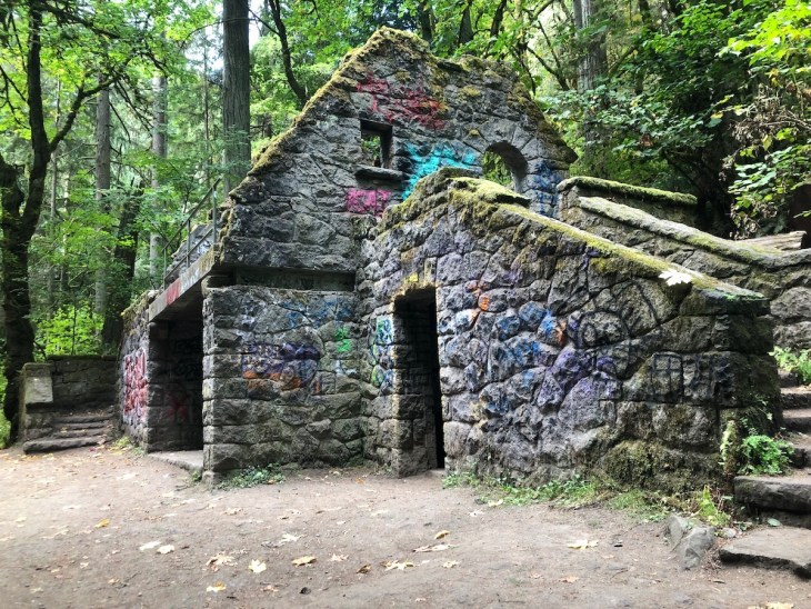 The Stone House was originally public restrooms and a picnic shelter.