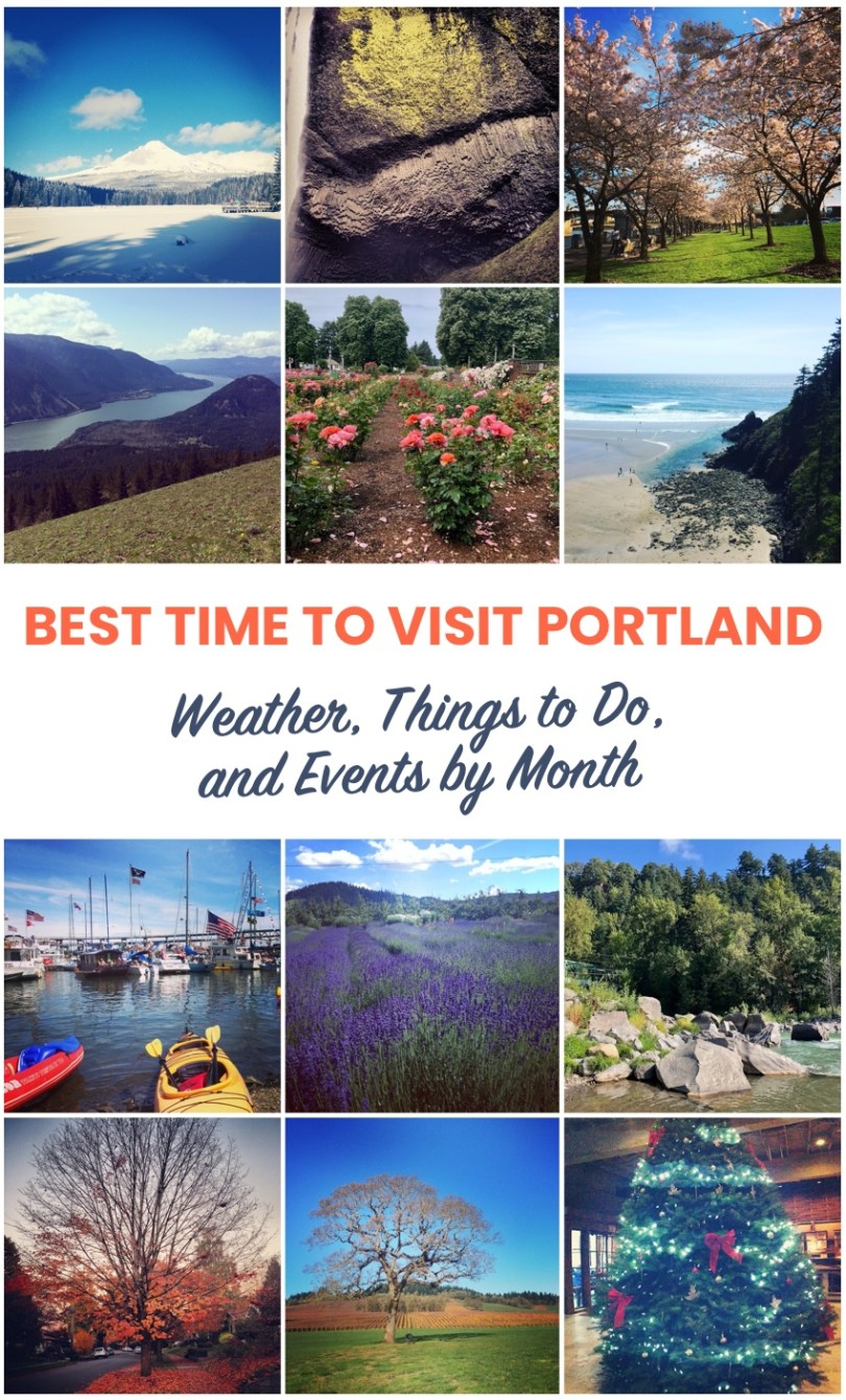 Best Time to visit Portland - by month