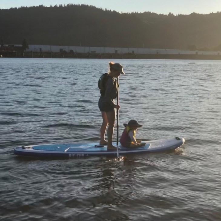 paddleboarding Portland Swan Island