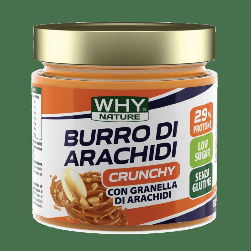 Burro di Arachidi Crunchy Why Nature 350 g