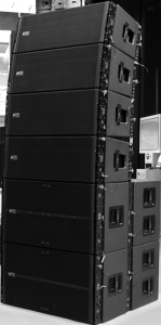 RCA TTL-55A and TTL-36AS Line Array top and subwoofer cabinets