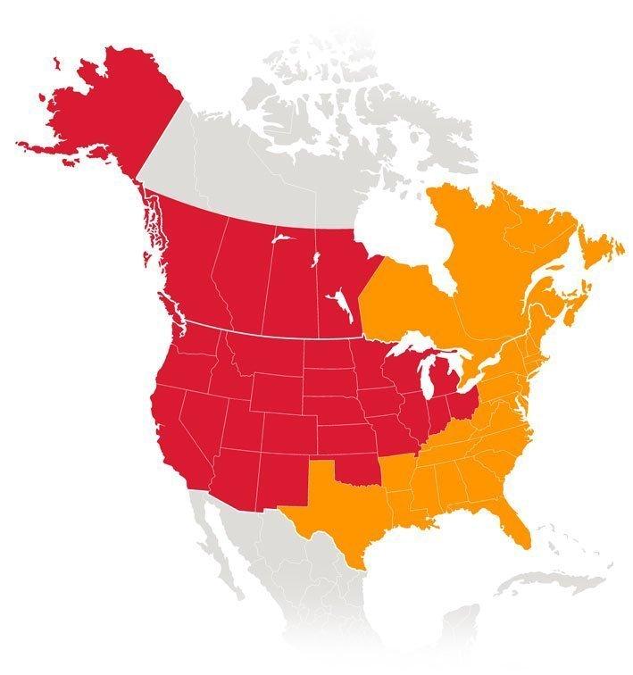 Logistics Sales Territories as of September 2021