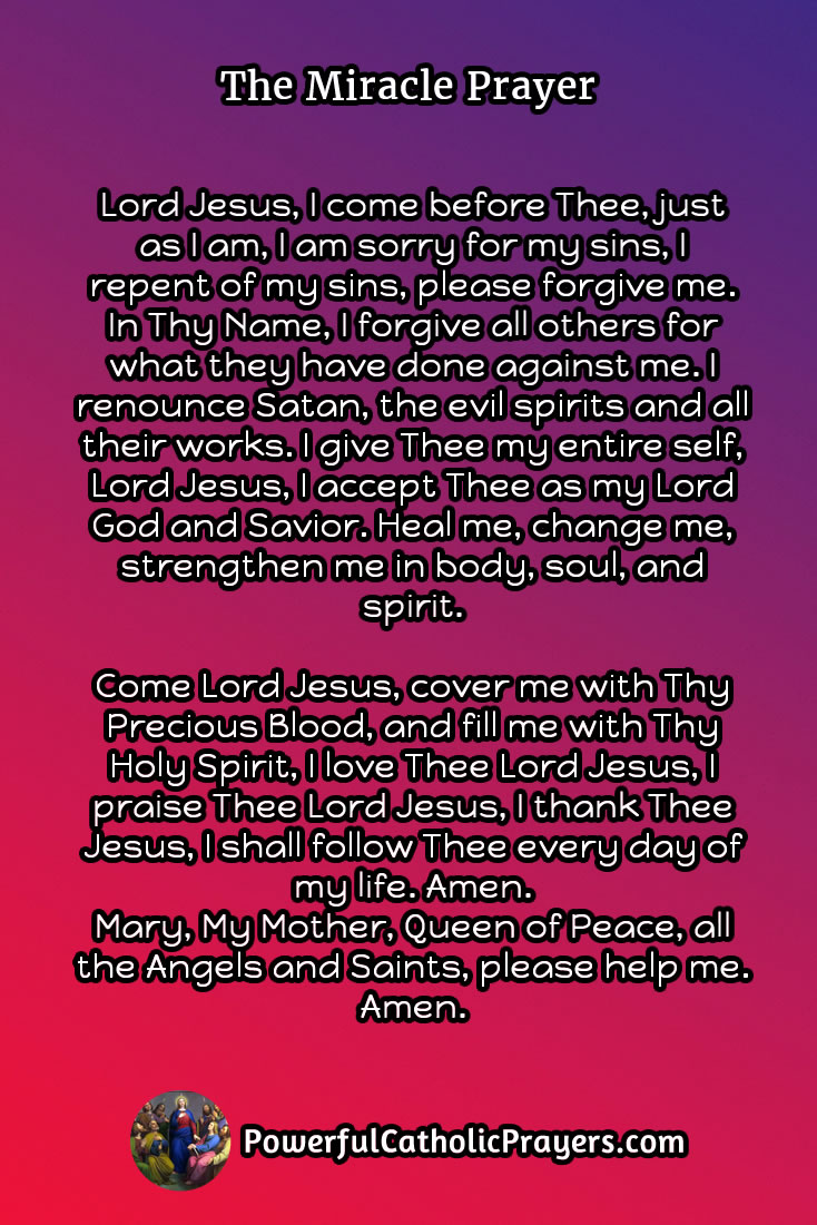 The Miracle Prayer