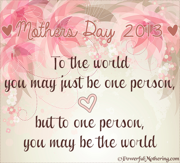 A Mothers Day Thought & Blog Hop
