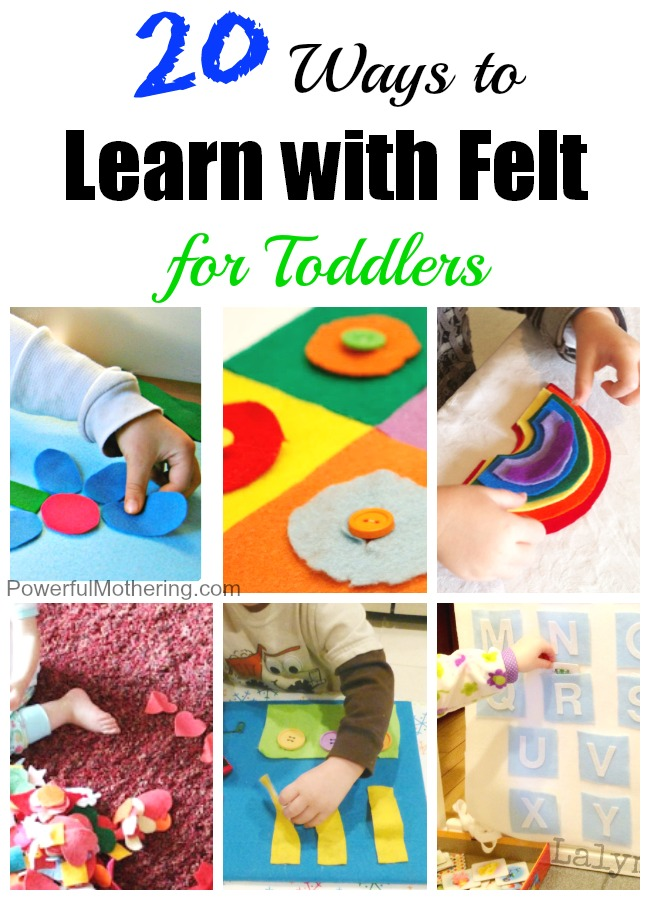 Thanks to all the creative people who've made it a relatively simple affair to make a craft at home and you needn't spend excessi. 20 Ways To Learn With Felt For Toddlers