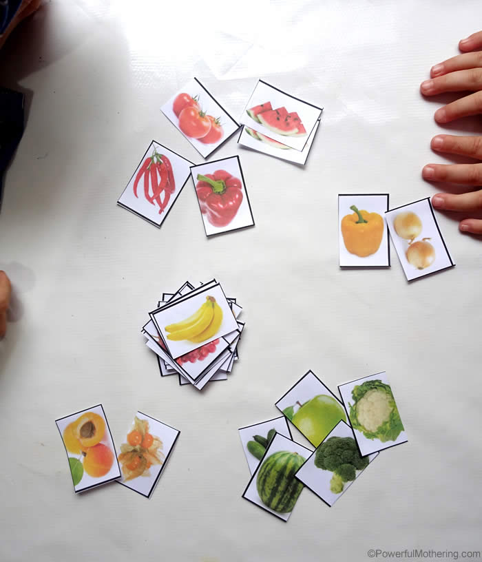 Sorting Fruit And Vegetables By Color With Free Printable