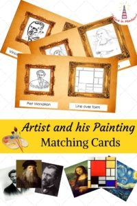 Artist and his Painting matching cards printables by I Believe in Montessori