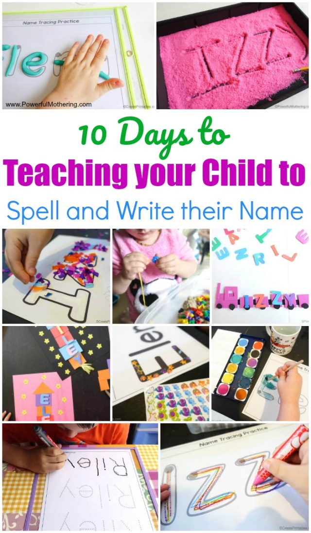 14 Days to Teaching your Child to Spell and Write their Name