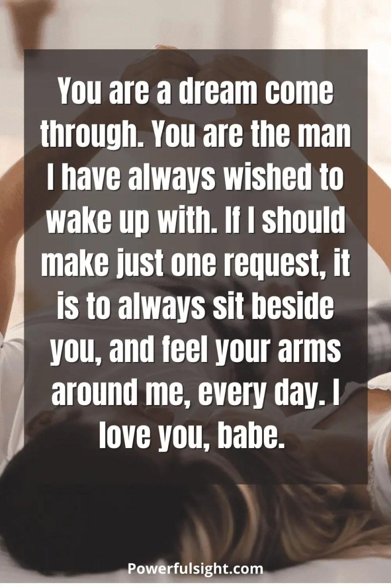You are a dream come true-love letter for him