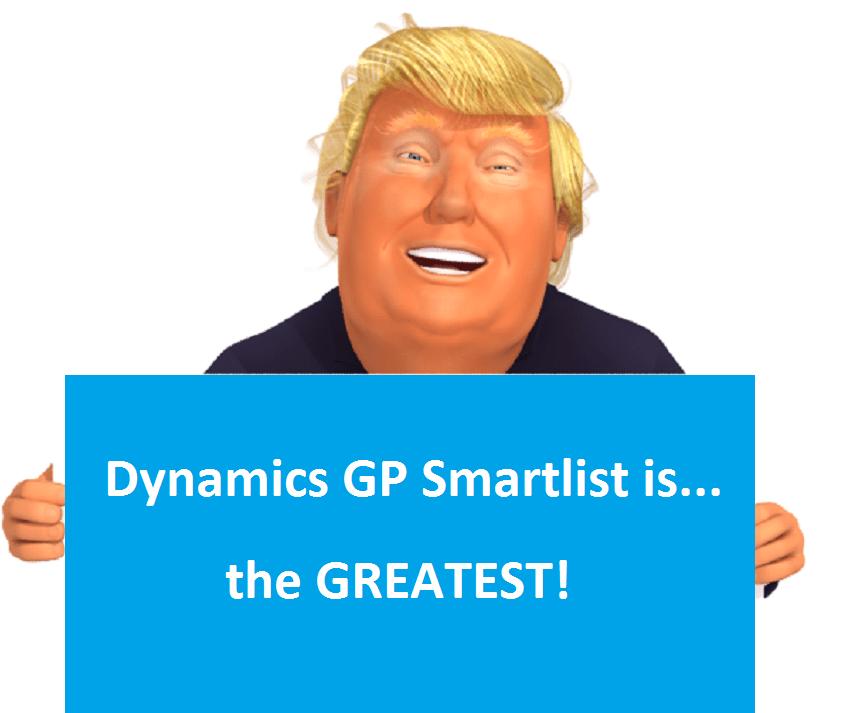 Dynamics GP Smartlist