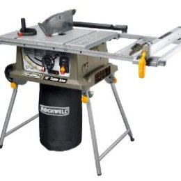 """8)Ryobi ZRRTS10G 15 Amp 10"""" Table Saw with Steel Stand"""