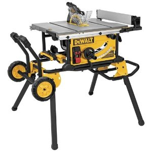 "DeWalt DWE7491RS 10"" Jobsite Table Saw with 32-1/2-Inch Rip Capacity and Rolling Stand"