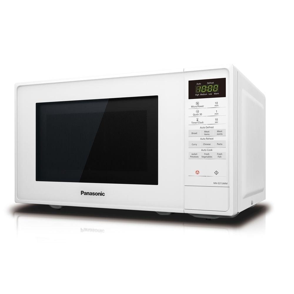 panasonic nn e27jwmbpq compact microwave 20l 9 programmes 800w white