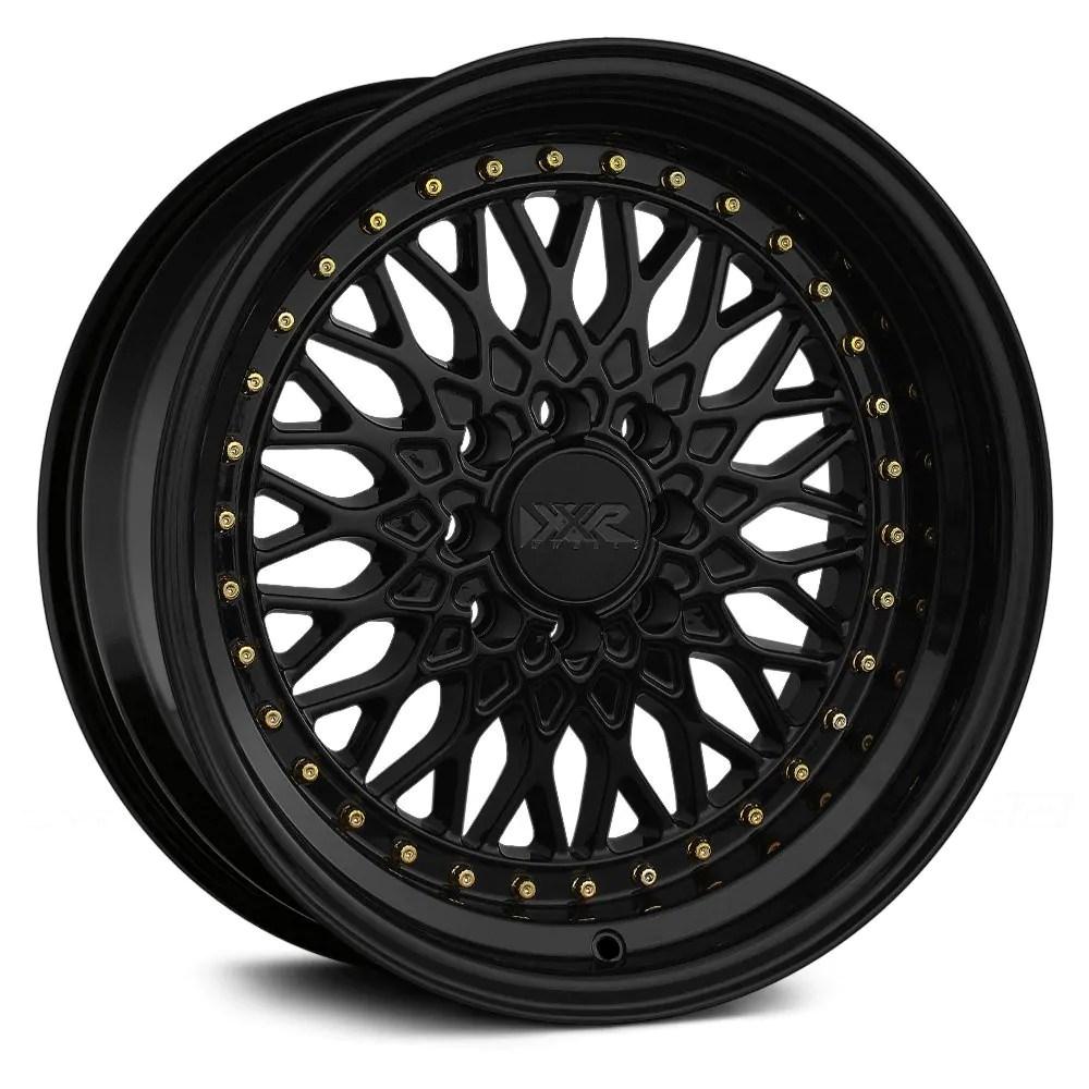 18×9 XXR 536 Black w/ Gold Rivets