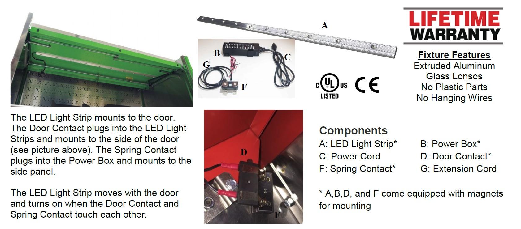tool storage led lights