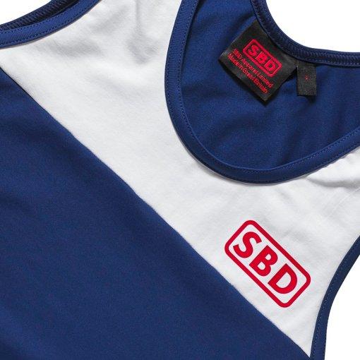 singlet per powerlifting sbd edizione blu e rossa