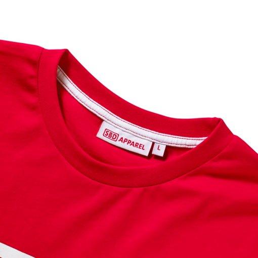 T-Shirt SBD Rossa con logo bianco