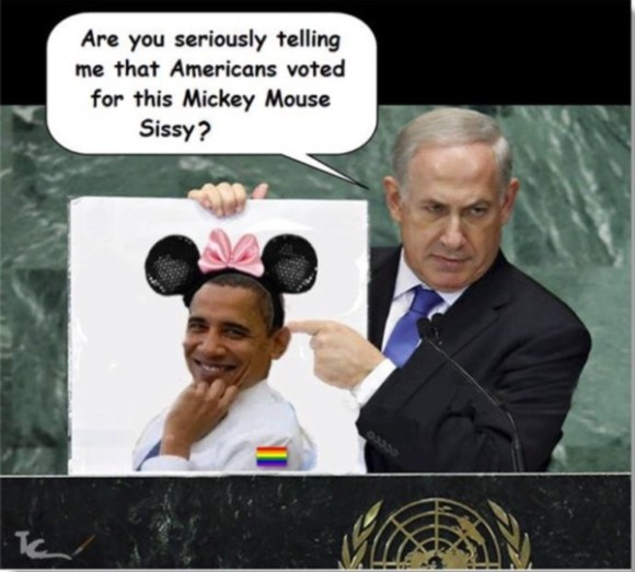 Netanyahu on Obama copy