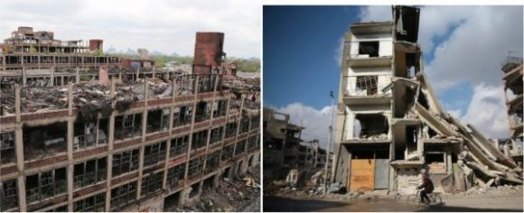 One of these cities is Aleppo. The other is Detroit. Run by Democrats for 60 years.