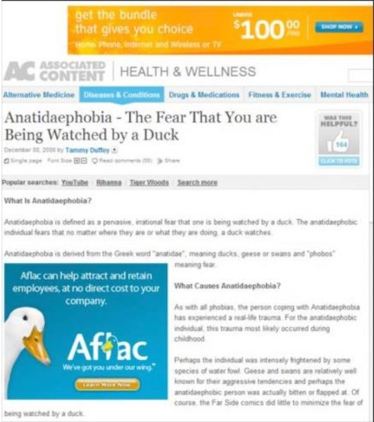 Bad Ad Placement