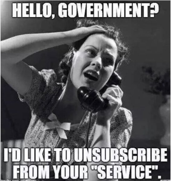Unsubscribe Government