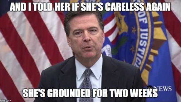 Comey Grounded