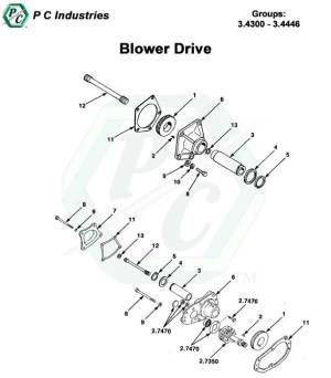 Blower Drive  Series 53 Detroit Diesel Engines Catalog Page 99
