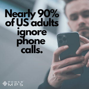 Only 10% in the USA answer all their phone calls