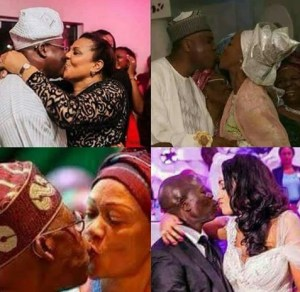 PHOTOS: Who Has The Best Kiss, Oshimole, Tinubu, Saraki Or Ajimobi