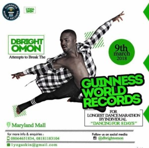 Meet Nigeria's Bright Omon Who Is Attempting to Break Guinness World Record for Longest Dance