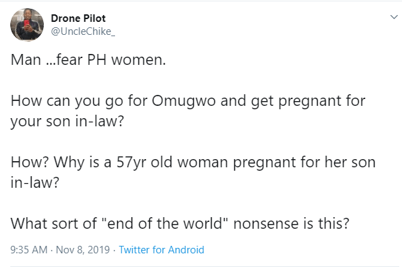 Mother visits her daughter for omugwo, gets pregnant for her son-in-law
