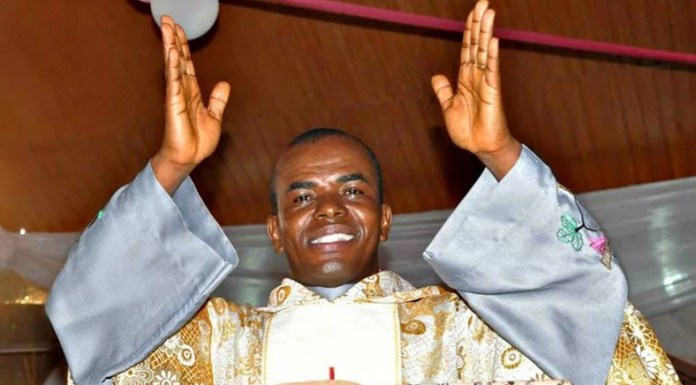 Rev. Fr. Ejike Mbaka has a reputation for political prophecies from the pulpit (Punch)