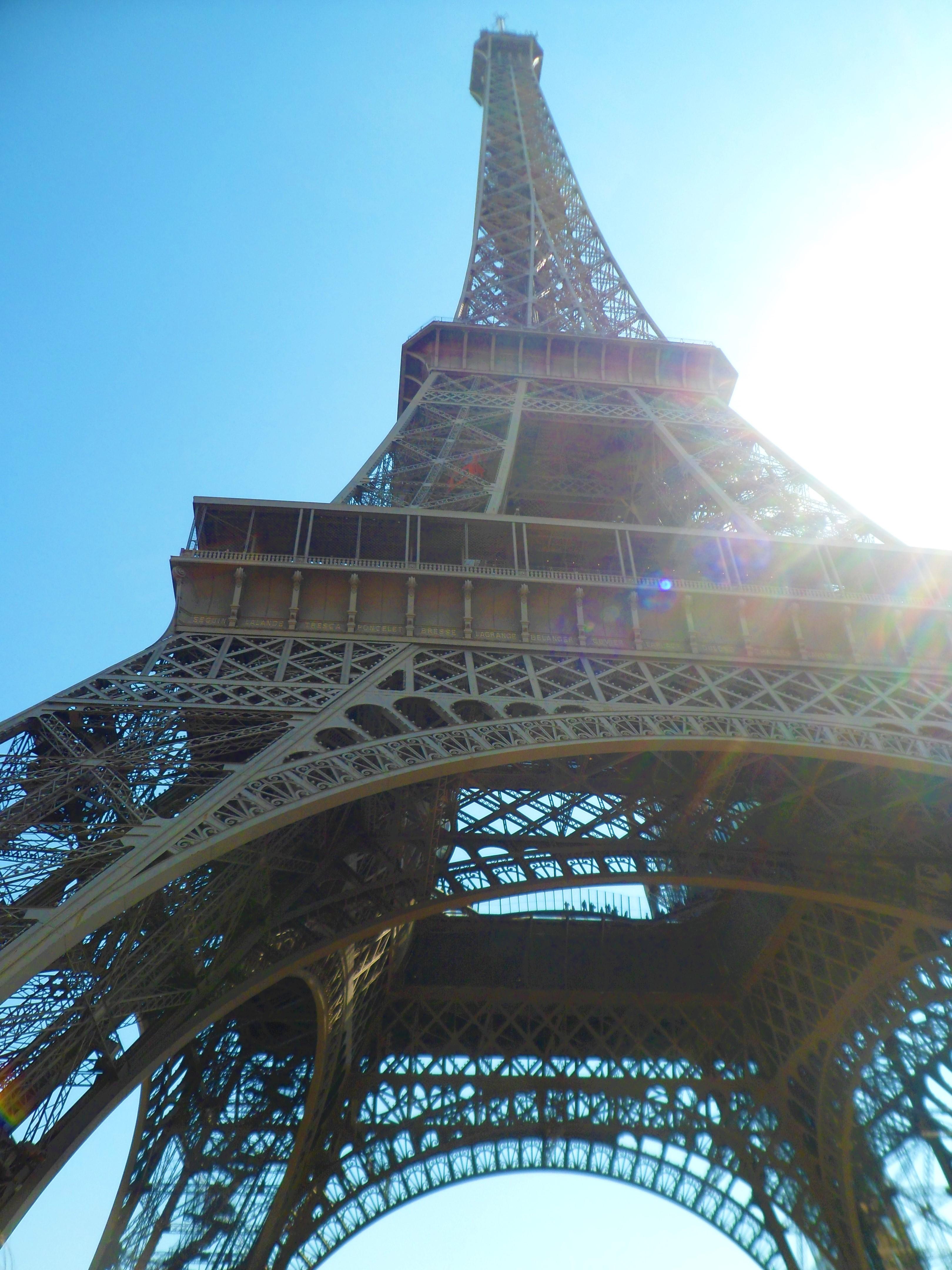 Pariser Wahrzeichen von unten