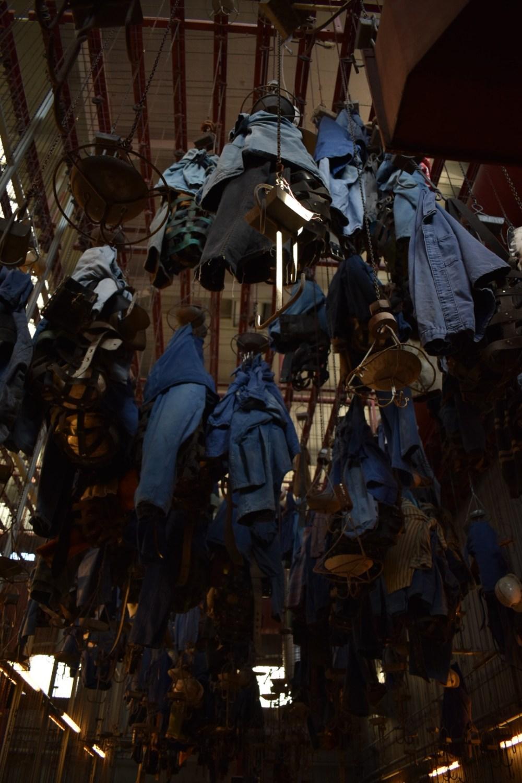 Blaue Bergmanns Kleidung
