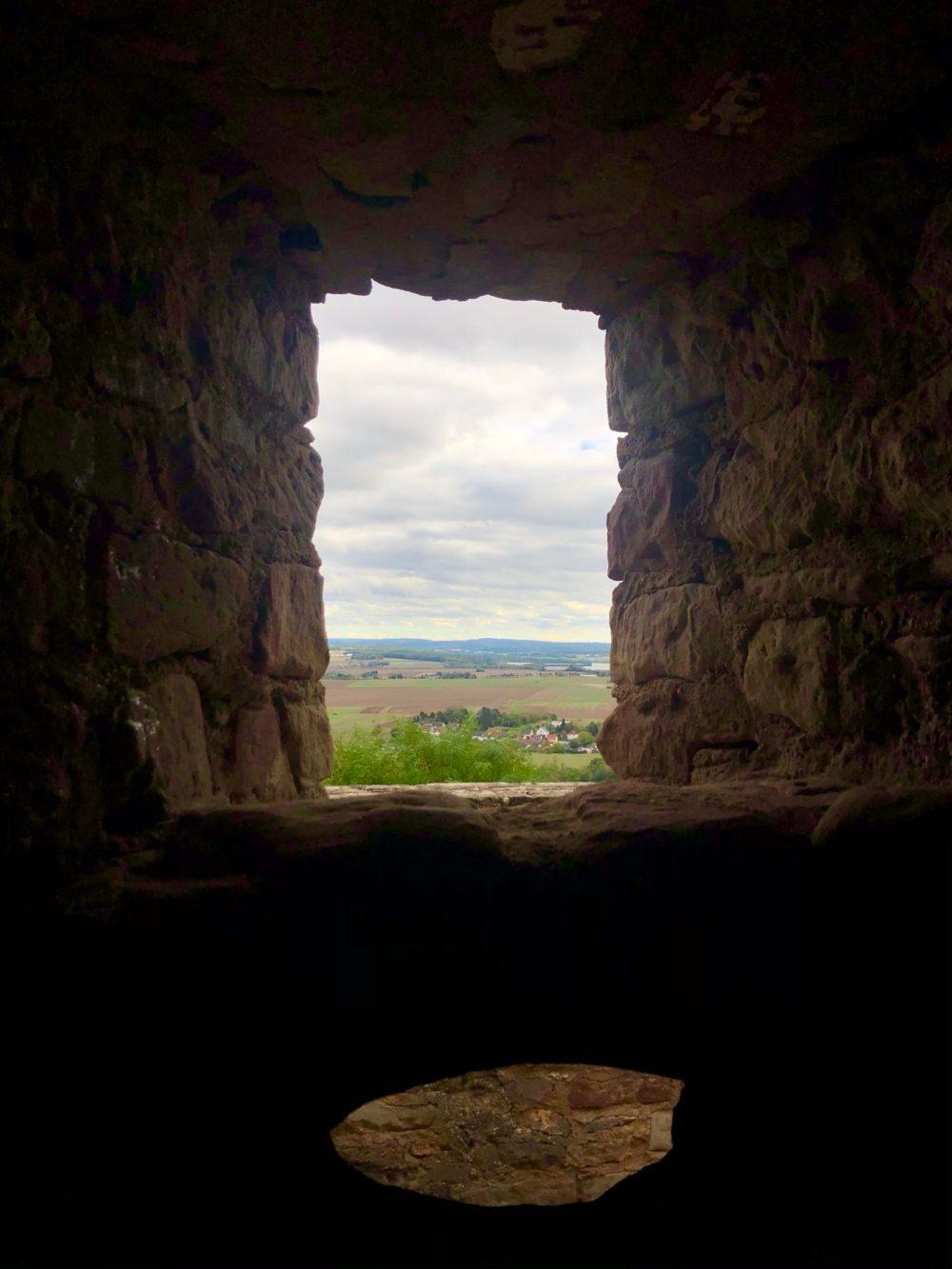 Ausblick durchs Fenster