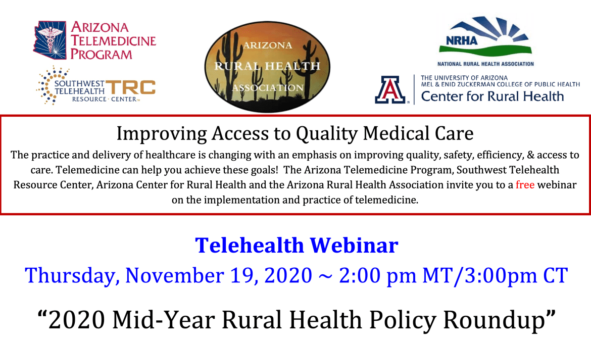 2020 Mid-Year Rural Health Policy Roundup Webinar