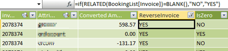 Flag data with PowerPivot Related