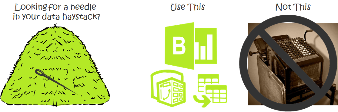 Use Power Pivot and Power BI to look for the proverbial needles in your data haystack