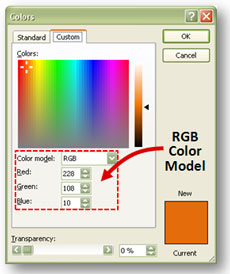 When you open up the More Fill Colors menu, you have the option of entering a specific RGB color value